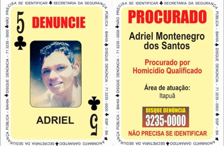 Adriel Montenegro, 21 anos, está foragido desde 17 de abril - Foto: Divulgação | SSP-BA