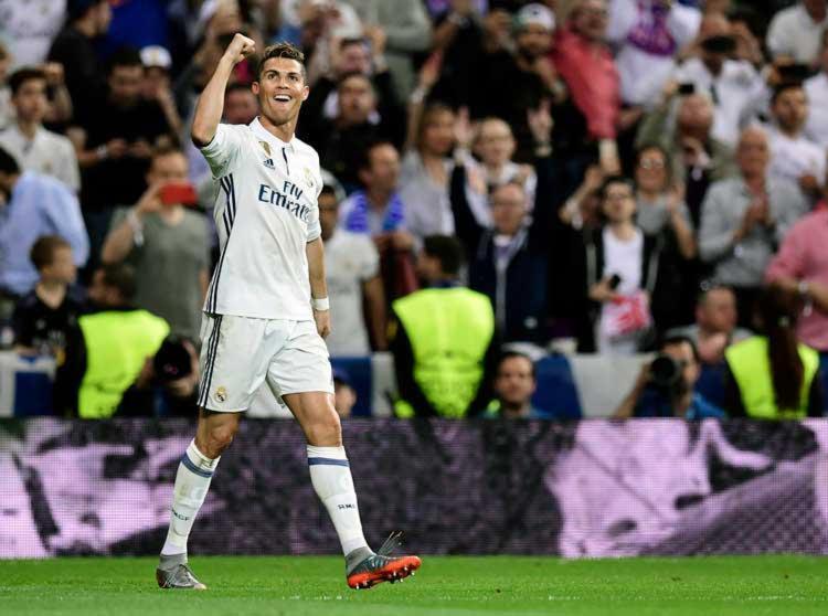 Cristiano Ronaldo foi o cara da partida com um hat-trick - Foto: Javier Soriano | AFP