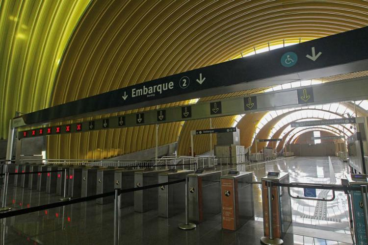 A Estação Pituaçu teve obra iniciada em novembro de 2015 e é a maior da Linha 2 - Foto: Carol Garcia | Gov-BA