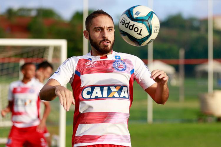 Poupado, Régis não atuou ante o Vasco para jogar nesta quarta-feira com fôlego máximo - Foto: Felipe Oliveira l EC Bahia