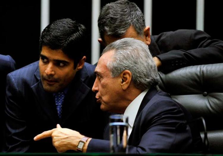 ACM Neto ao lado do presidente Michel Temer na Câmara dos Deputados - Foto: Rodolfo Stuckert | Câmara dos Deputados