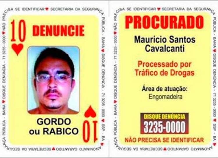Maurício Santos Cavalcanti fazia parte do Baralho do Crime - Foto: Divulgação