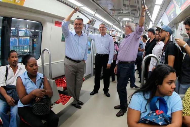 Governador Rui Costa passou pelas Linhas 1 e 2 - Foto: Manu Dias | Divulgação | GOVBA