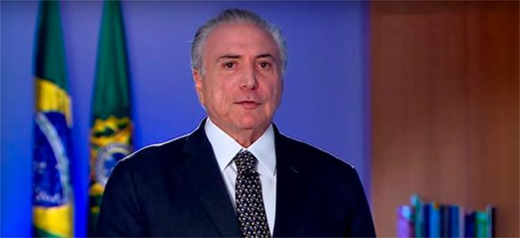 Após dia de protestos, presidente divulga gravação em que afirma que o Brasil 'não parou e não vai parar' - Foto: Reprodução l Facebook