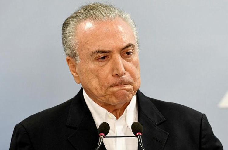 O dinheiro teria saído da OAS para a conta de Temer, segundo investigação - Foto: Evaristo SA   AFP