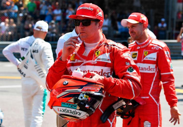 Na briga pela pole, o Q2 teve Raikkonen com a melhor volta, seguido por Vettel e Verstappen - Foto: Pascal Guyot   AFP