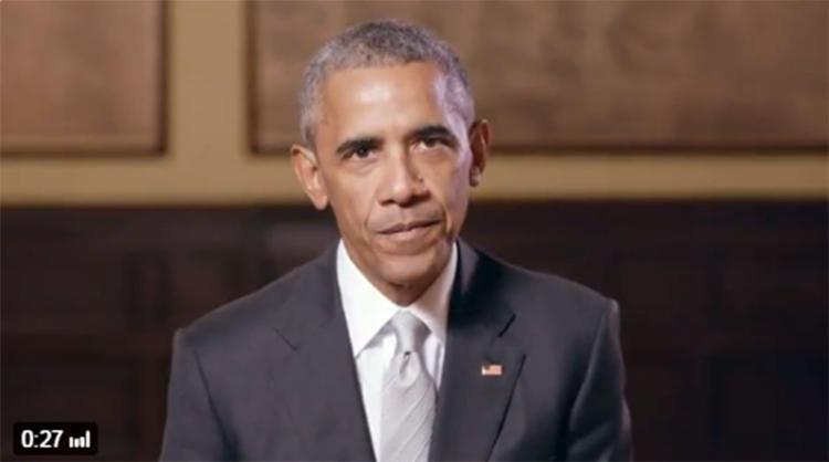 Obama disse que admirou a campanha de Macron - Foto: Reprodução | Twitter
