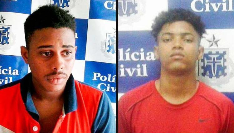 Segundo a polícia, Mimo e Ícaro fazem parte de uma quadrilha responsável por diversos roubos a restaurantes e farmácias - Foto: Divulgação | Polícia Civil