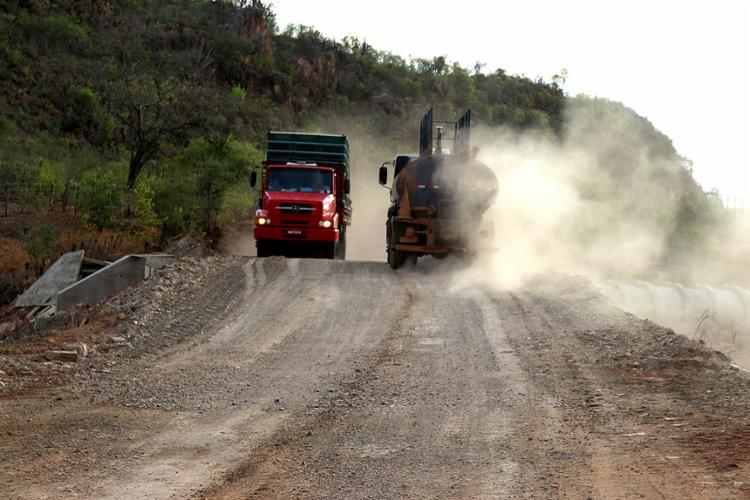 No lote 1, que tem 79,30 quilômetros, o condutor vai encontrar excesso de poeira por causa dos serviços executados - Foto: Divulgação l Ascom