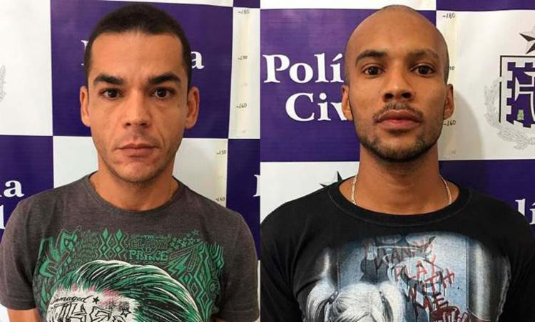 Samuel Ferreira (E) e Cleiton Cruz têm passagens por crimes contra o patrimônio - Foto: Divulgação | Polícia Civil