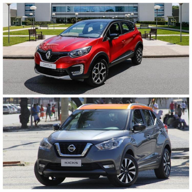 Nissan Kicks x Renault Captur - Foto: Divulgação