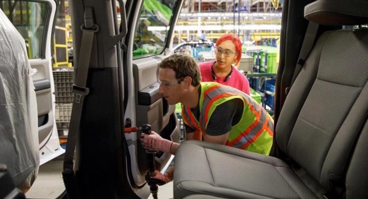 O fundador do Facebook, Mark Zuckerberg, visitou recentemente o complexo Ford River Rouge - Foto: Divulgação