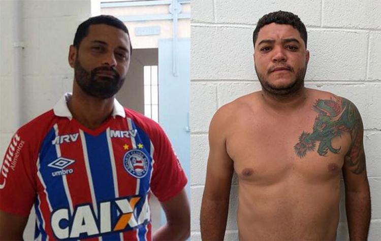 Cabo Márcio (E) é lotado na 82ª CIPM (CAB); segundo a delegada Olveranda Oliveira, Tiago é homicida - Foto: Divulgação l Polícia Civil