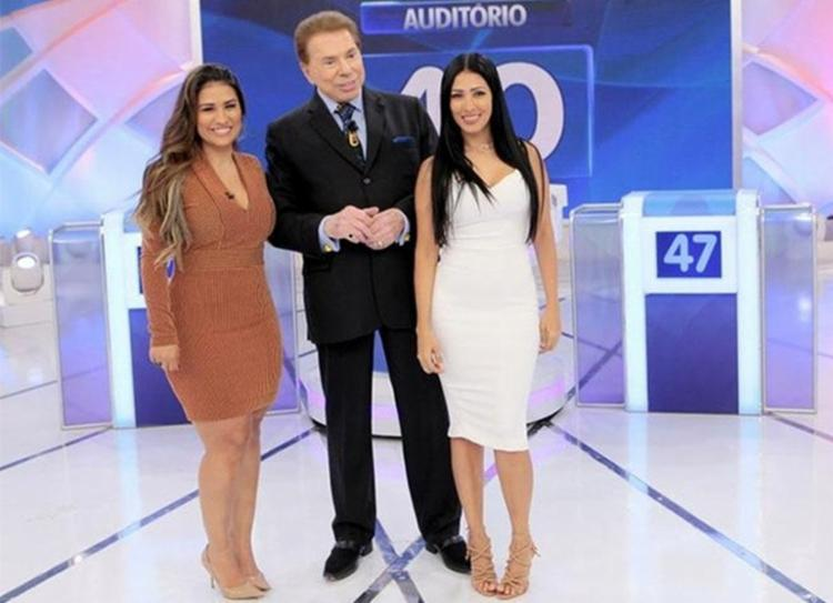As irmãs Simone e Simaria estiveram no programa de Silvio Santos neste domingo - Foto: Reprodução | SBT