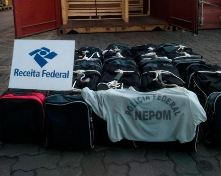Droga estava dentro de carga que seria levada para Bélgica - Foto: Divulgação | Receita Federal
