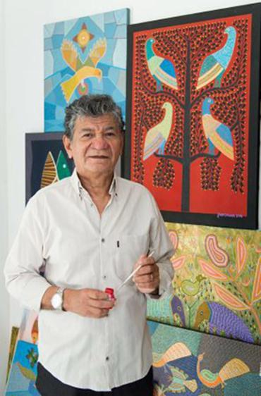 Natural de Porto Velho, Rondônia, Jair Gabriel começou a pintar depois de se mudar para a Bahia - Foto: Tarso Figueira l Divulgação