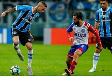 Bahia leva gol no fim e perde para o Grêmio em Porto Alegre