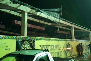 Parte de camarote desaba durante festejo junino em Porto Seguro   Reprodução   Namídia News