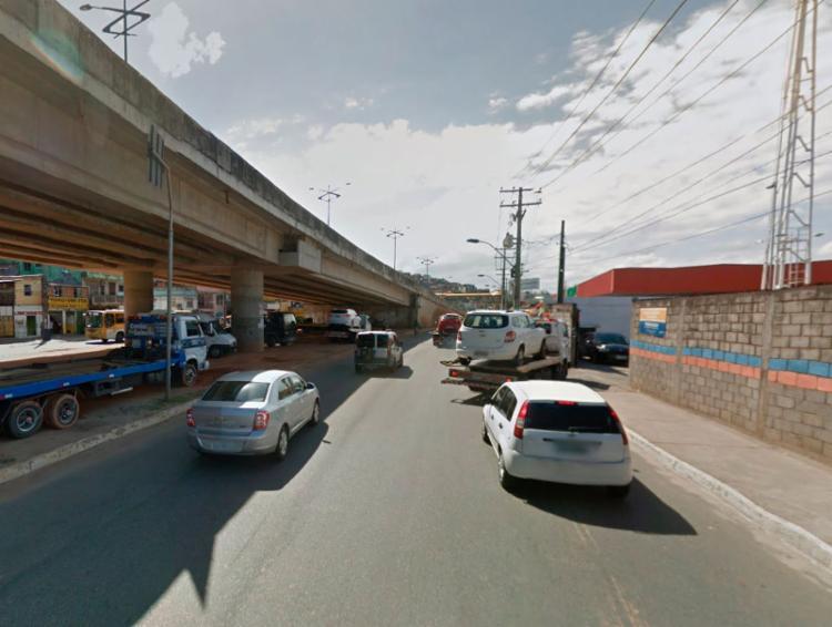 Crime aconteceu nas proximidades do Atacadão, na avenida Barros Reis - Foto: Reprodução   Google Maps