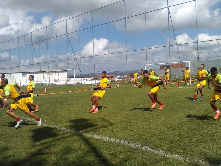 O Flu de Feira treinou forte para a partida contra o Campinense - Foto: Cristiano Alves l Fluminense de Feira