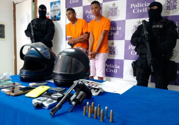 Elias (esquerda) e Jamilton foram detidos em Sussuarana Velha - Foto: Euzeni Daltro | Ag. A TARDE