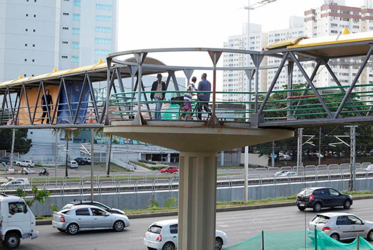 A interdição será logo após a Estação CAB - Foto: Joá Souza | Ag. A TARDE