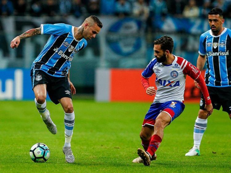 Esquadrão se defendeu bem, mas atacou pouco e sofreu gol no fim - Foto: Lucas Uebel l Grêmio FBPA