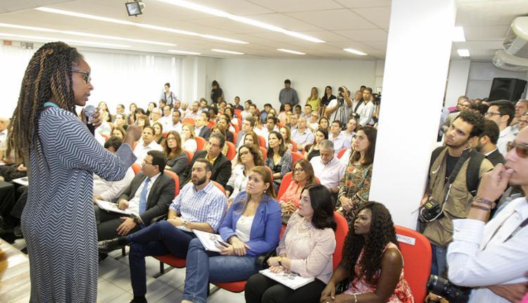 A comunicadora Monique Evelle foi uma das palestrantes - Foto: Luciano da Matta l Ag. A TARDE