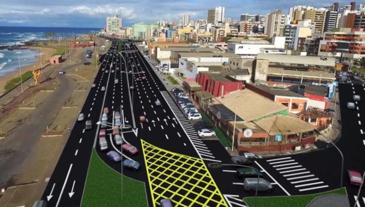 Nova via vai permitir ligação entre Otávio Mangabeira e Manoel Dias - Foto: Divulgação | Transalvador