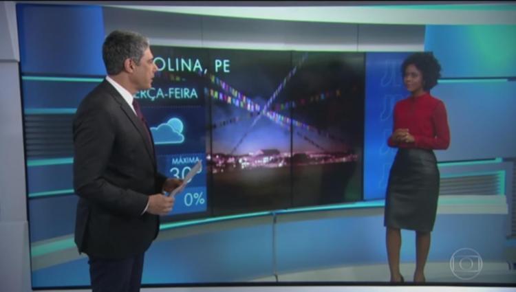 Bonner elogiou Maju por sua estreia na bancada do Jornal Hoje - Foto: Reprodução   TV Globo