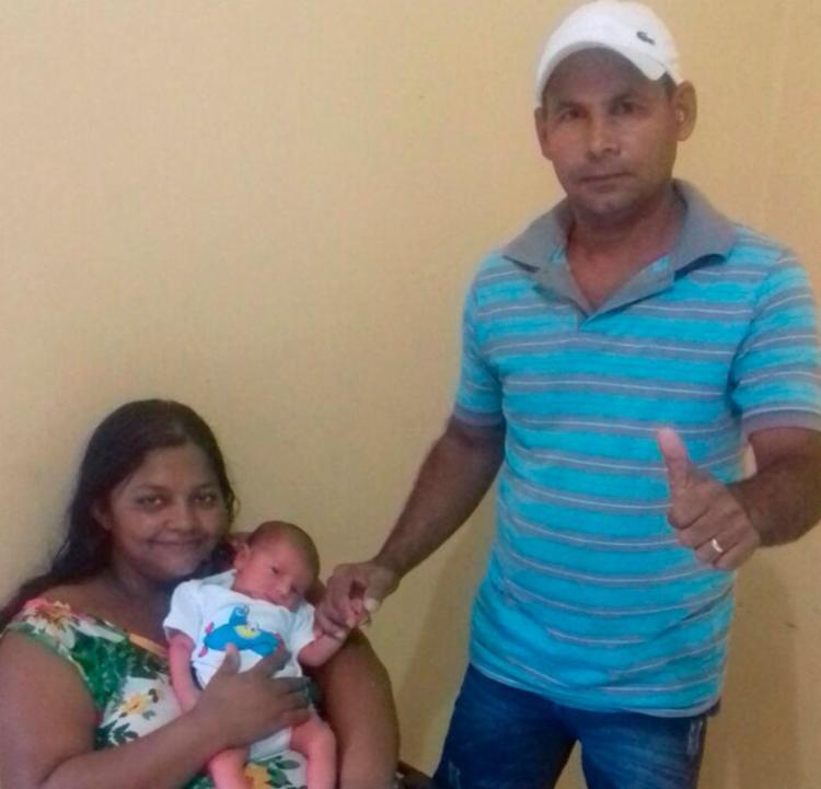 O pequeno José passa bem e já se encontra com os pais na cidade de Ibotirama - Foto: Arquivo Pessoal