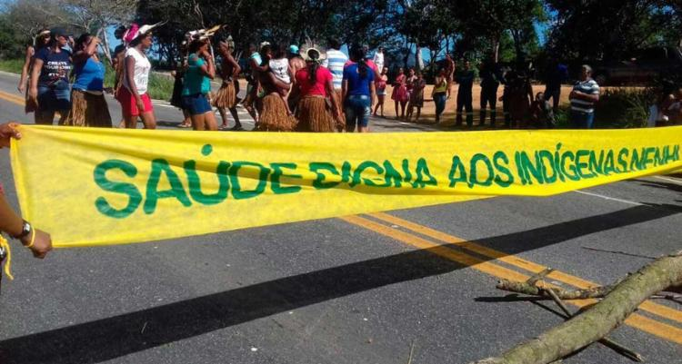 Os indígenas reivindicam melhorias no transporte, saúde e educação do povoado - Foto: Divulgação | PRF