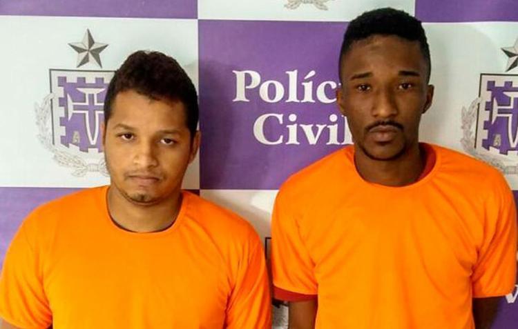 Marcos, 23, e Diego, 24, foram presos em suas respectivas casas, no Engenho Velho da Federação - Foto: Divulgação | Polícia Civil