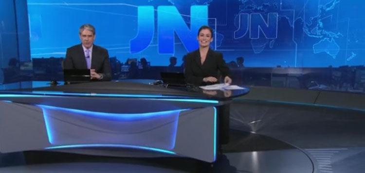 Os apresentadores William Bonner e Renata Vasconcellos mostram novo formato do JN - Foto: Reprodução | TV Globo
