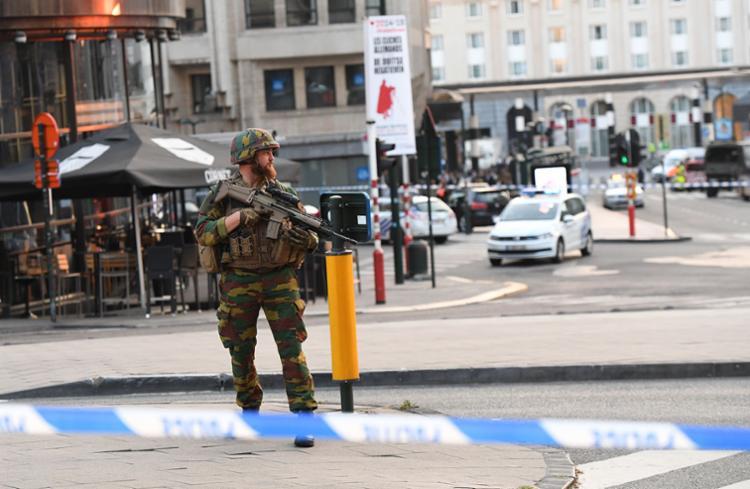 Polícia reforçou segurança no entorno da Grand-Place - Foto: Emmanuel Dunand   AFP