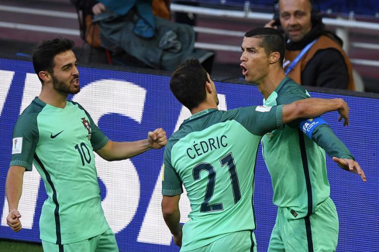 Cristiano Ronaldo marcou o único gol da partida - Foto: Yuri Kadobnov l AFP