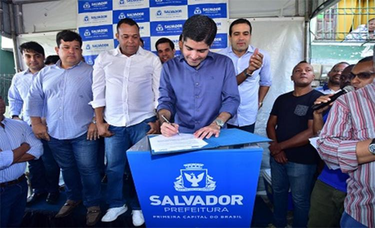 O ato contou com a participação do prefeito ACM Neto - Foto: Divulgação l Secom-PMS