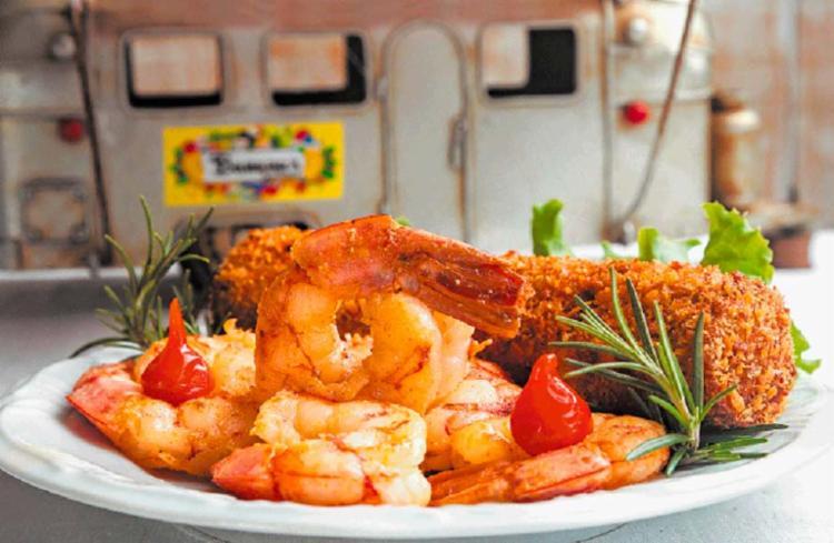 O festival apresentará pratos diversos feitos à base de produtos cultivados na região, como o Terra e Mar, do Banana's Café Gourmet - Foto: Divulgação