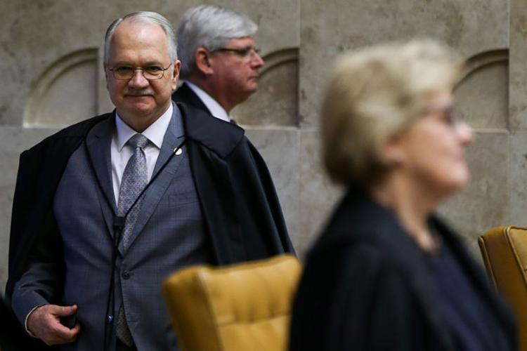 O julgamento foi retomado nesta quinta-feira, 22, quando os ministros acompanharam o voto de Fachin (E) - Foto: (Marcelo Camargo l Agência Brasil