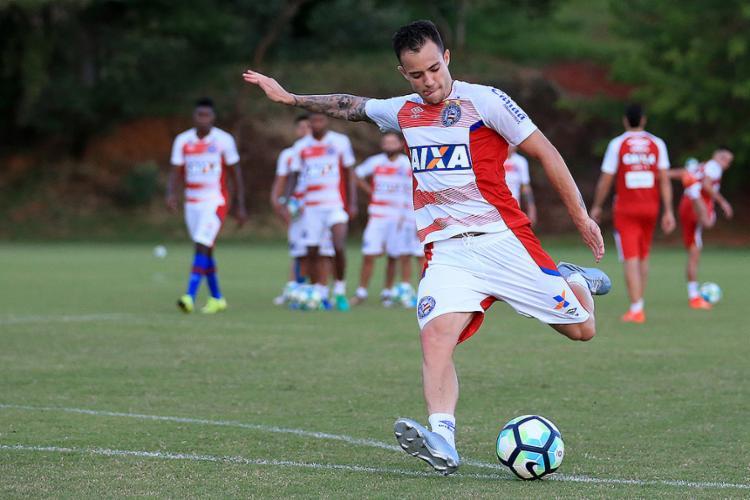 Anunciado e já regularizado, Ferrareis virou opção para Jorginho na segunda - Foto: Felipe Oliveira l EC Bahia