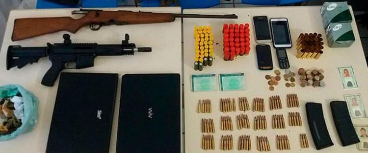 Bando estava bem equipado para realizar roubos a bancos - Foto: Divulgação | Polícia Militar