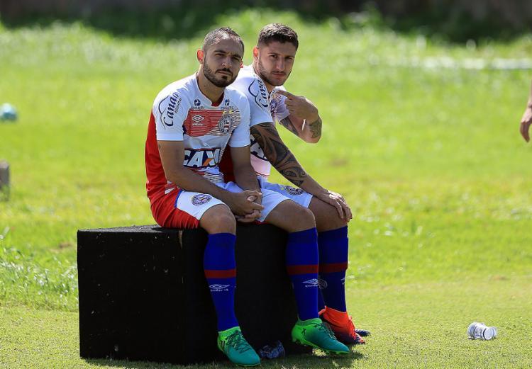 Régis e Zé Rafael fazem parte do melhor quarteto ofensivo do Bahia neste ano - Foto: Felipe Oliveira l EC Bahia l Divulgação