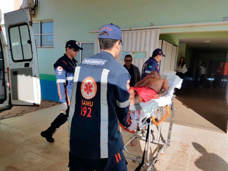 Aílton Souza dos Santos tentou separar uma briga nesta manhã quando foi atingido - Foto: Weslei Santos | Blog do Sigi Vilares