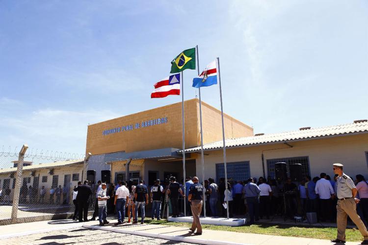 Inauguração da unidade prisional, em Barreiras, atraiu diversas pessoas ligadas à segurança pública na região - Foto: Ascom-Seap l Divulgação