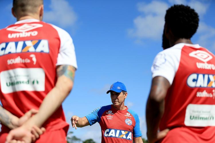 Time conta com bom histórico do técnico Jorginho contra o Fla para conquistar seu terceiro triunfo em casa - Foto: Felipe Oliveira l Ag. A TARDE