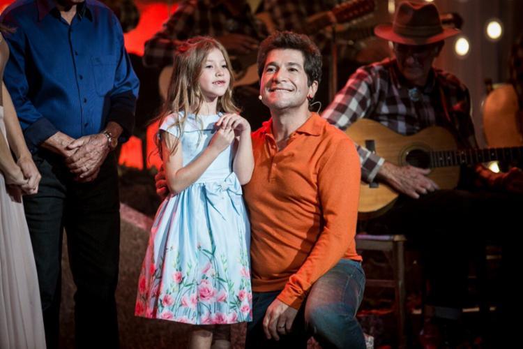 Lara surpreendeu no programa Tamanho Família - Foto: Reprodução   Twitter   Gshow