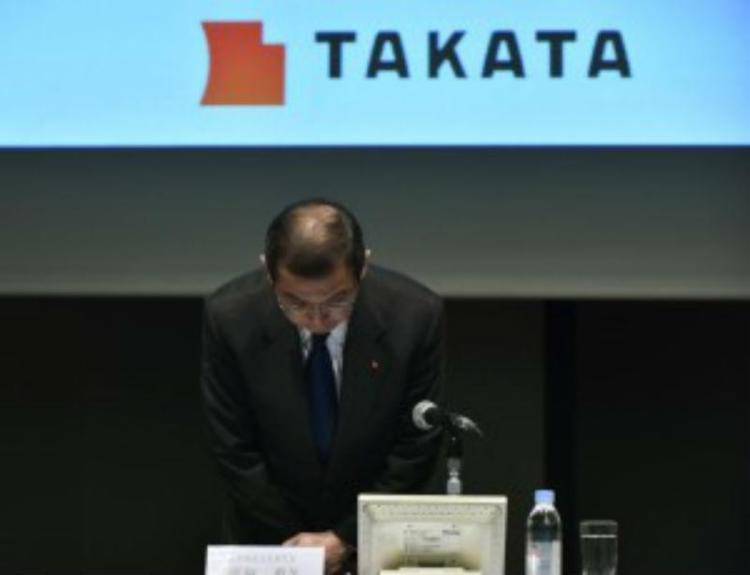 O CEO da Takata, Shigehisa Takada se pronuncia sobre situação da empresa - Foto: Divulgação