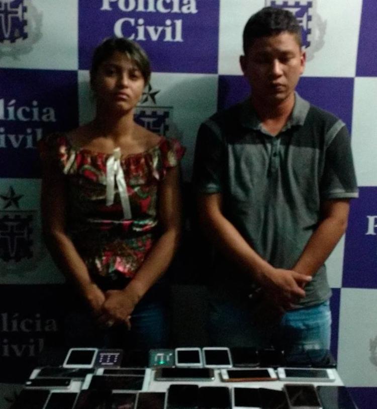 A dupla contou que faz parte de uma quadrilha composta ainda por dois outros casais - Foto: Divulgação | Polícia Civil