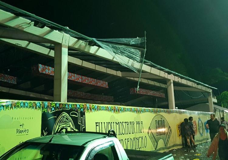 Segundo os Bombeiros, o camarote tinha passado por vistorias antes da festa - Foto: Reprodução | Namídia News