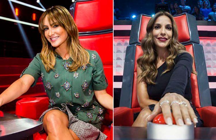 Veveta vai apertar o botão no The Voice Brasil e Claudinha, do The Voice Kids - Foto: Reprodução